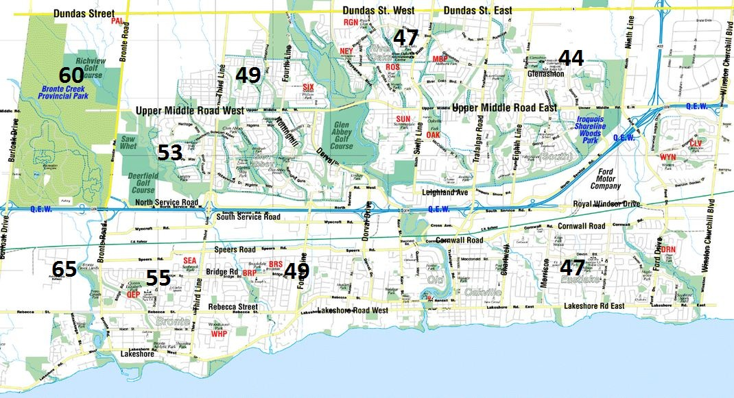 A1 oakville taxi rates and pricing.
